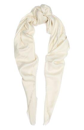 Женский платок из смеси шелка и шерсти GIVENCHY белого цвета, арт. GW1414/J3687 | Фото 1