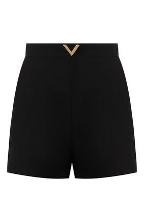 Женские шорты из смеси шерсти и шелка VALENTINO черного цвета, арт. TB3RF1901CF | Фото 1