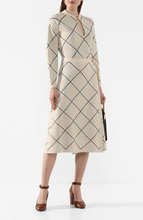 Женское платье из вискозы PROENZA SCHOULER бежевого цвета, арт. R2017365-KY176 | Фото 2