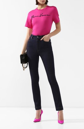 Женские джинсы DOLCE & GABBANA темно-синего цвета, арт. FTB0TD/G898Z | Фото 2
