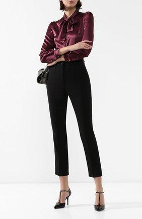Женские шерстяные брюки DOLCE & GABBANA черного цвета, арт. FTAM2T/FUCC6 | Фото 2