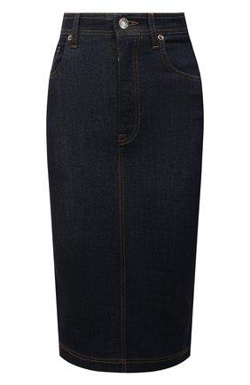 Женская джинсовая юбка DOLCE & GABBANA темно-синего цвета, арт. F4BR8D/G898Z | Фото 1