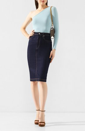 Женская джинсовая юбка DOLCE & GABBANA темно-синего цвета, арт. F4BR8D/G898Z | Фото 2