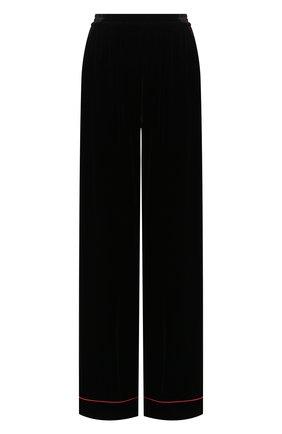 Женские бархатные брюки DOLCE & GABBANA черного цвета, арт. FTAMPT/FUVKQ | Фото 1