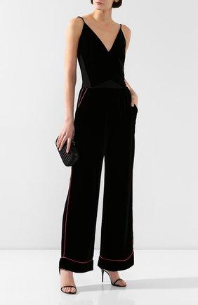 Женские бархатные брюки DOLCE & GABBANA черного цвета, арт. FTAMPT/FUVKQ | Фото 2