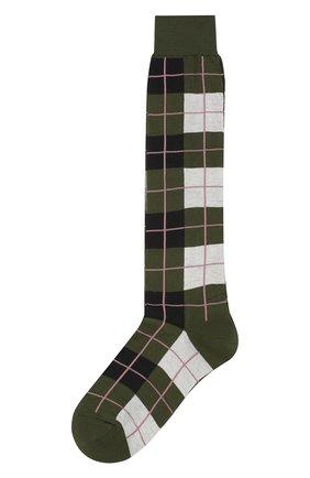 Женские хлопковые носки MARNI зеленого цвета, арт. SKMC0063Q0/FC1C1 | Фото 1