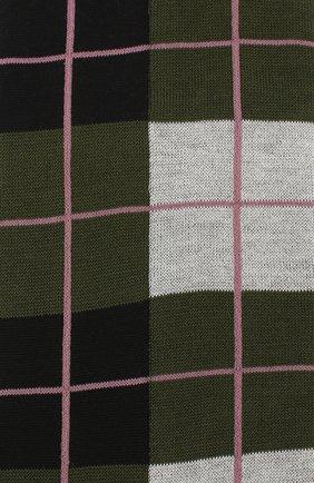 Женские хлопковые носки MARNI зеленого цвета, арт. SKMC0063Q0/FC1C1 | Фото 2