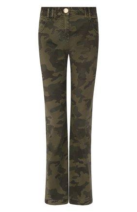 Женские джинсы BALMAIN хаки цвета, арт. TF15670/D015 | Фото 1