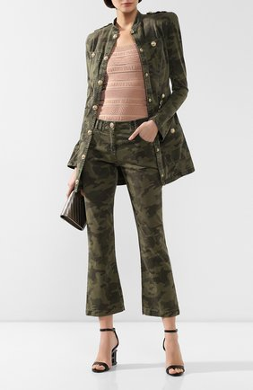 Женские джинсы BALMAIN хаки цвета, арт. TF15670/D015 | Фото 2