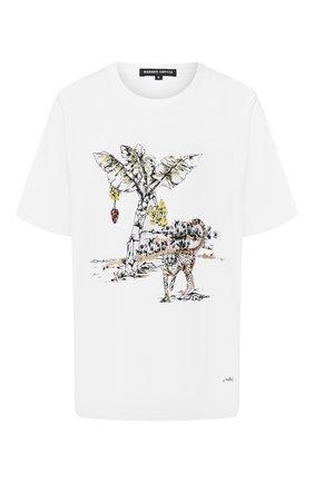 Женская хлопковая футболка MARKUS LUPFER белого цвета, арт. TEE330 | Фото 1