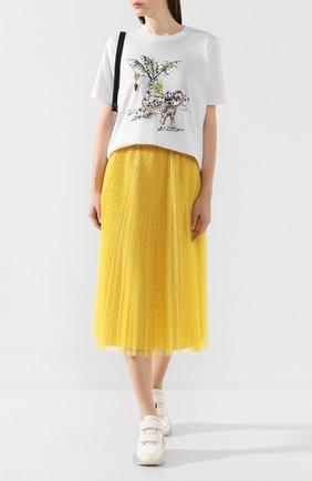 Женская хлопковая футболка MARKUS LUPFER белого цвета, арт. TEE330 | Фото 2
