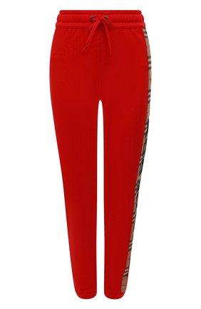 Женские кашемировые брюки BURBERRY красного цвета, арт. 8024955 | Фото 1