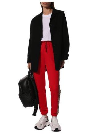 Женские кашемировые брюки BURBERRY красного цвета, арт. 8024955 | Фото 2