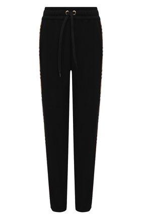Женские хлопковые брюки BURBERRY черного цвета, арт. 8024541 | Фото 1