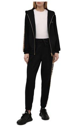Женские хлопковые брюки BURBERRY черного цвета, арт. 8024541 | Фото 2