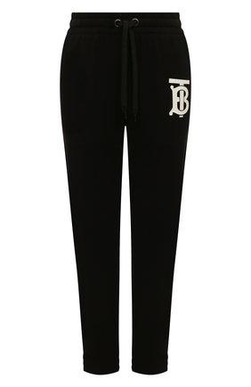 Женские хлопковые джоггеры BURBERRY черного цвета, арт. 8024354 | Фото 1