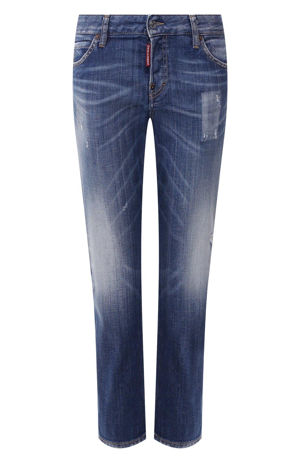 Женские джинсы DSQUARED2 синего цвета, арт. S75LB0322/S30342   Фото 1