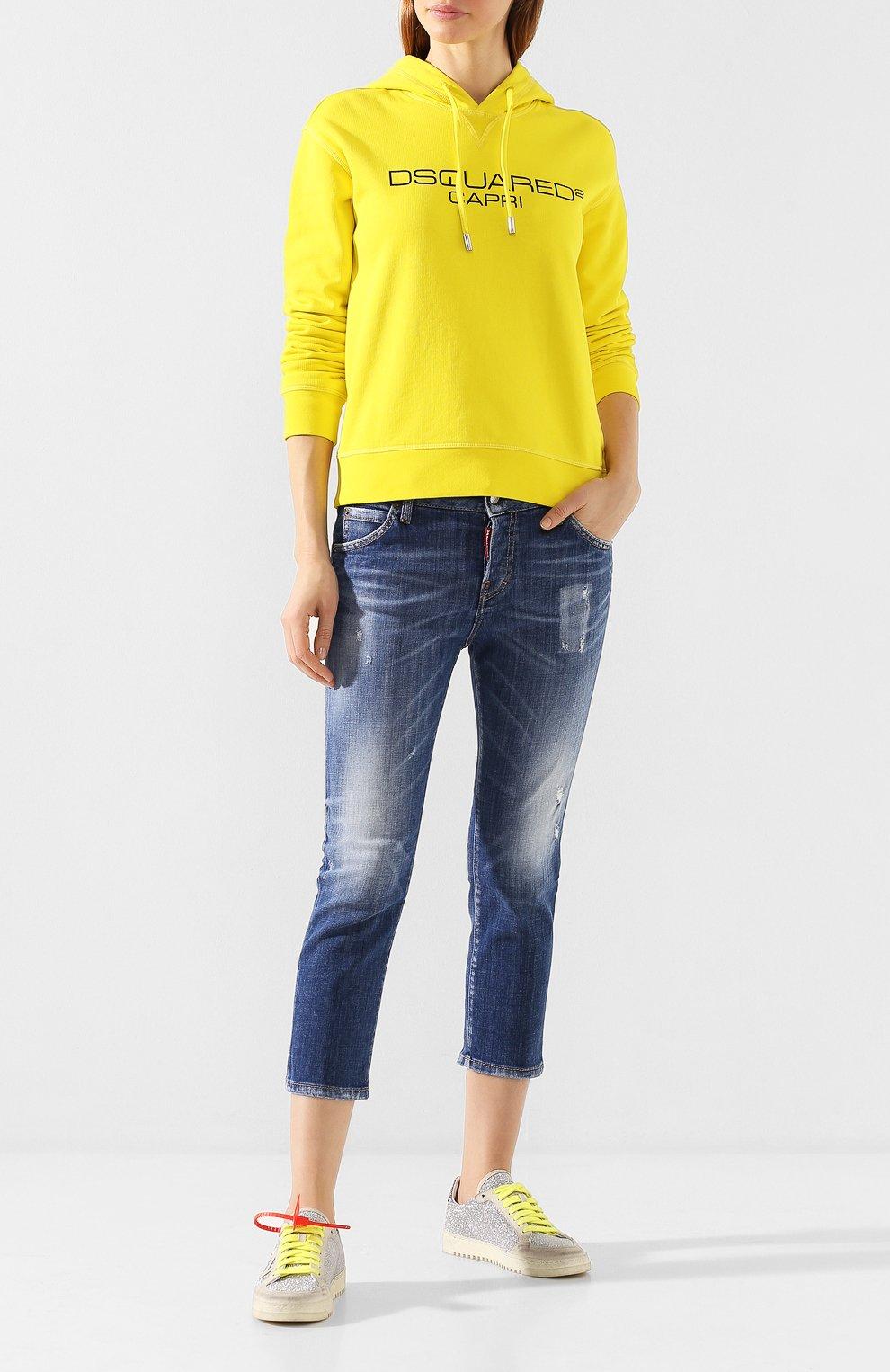 Женские джинсы DSQUARED2 синего цвета, арт. S75LB0322/S30342   Фото 2