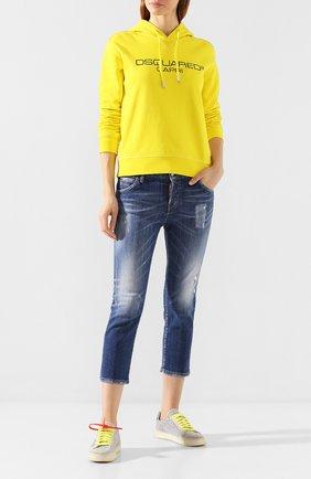 Женские джинсы DSQUARED2 синего цвета, арт. S75LB0322/S30342 | Фото 2