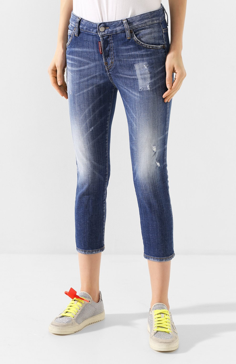 Женские джинсы DSQUARED2 синего цвета, арт. S75LB0322/S30342   Фото 3