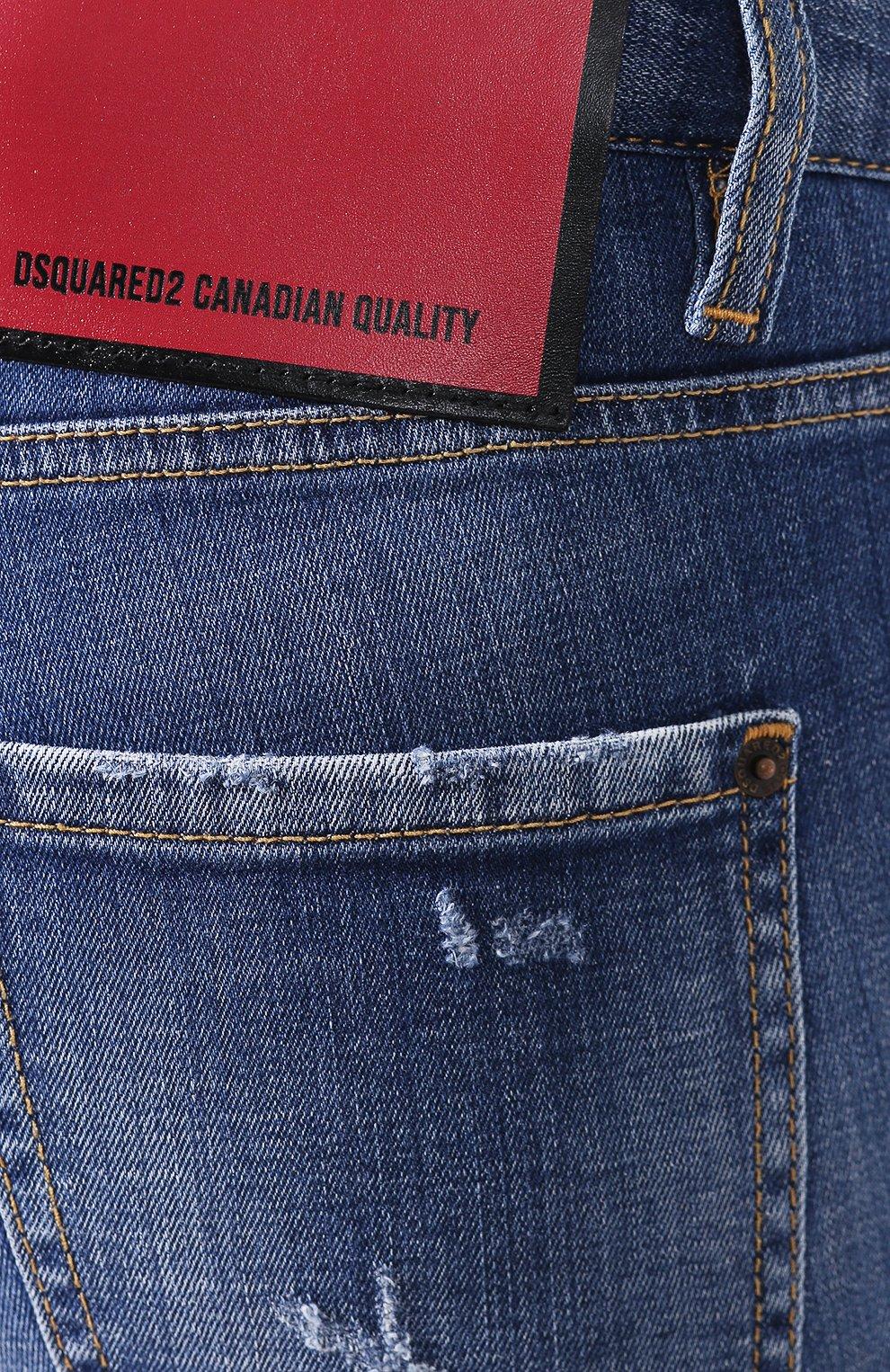 Женские джинсы DSQUARED2 синего цвета, арт. S75LB0322/S30342   Фото 5