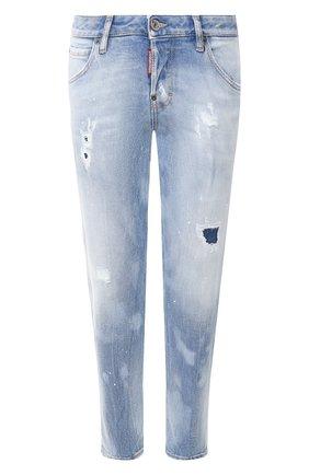 Женские джинсы DSQUARED2 голубого цвета, арт. S75LB0284/S30662 | Фото 1
