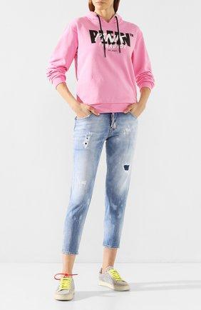 Женские джинсы DSQUARED2 голубого цвета, арт. S75LB0284/S30662 | Фото 2