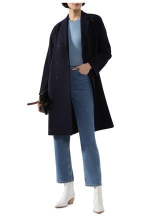Женский кашемировый пуловер LORO PIANA голубого цвета, арт. FAI8990   Фото 2