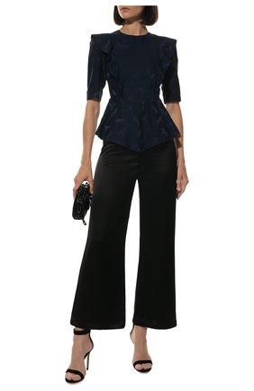 Женская блузка из смеси шелка и вискозы STELLA MCCARTNEY темно-синего цвета, арт. 599865/SNA57 | Фото 2