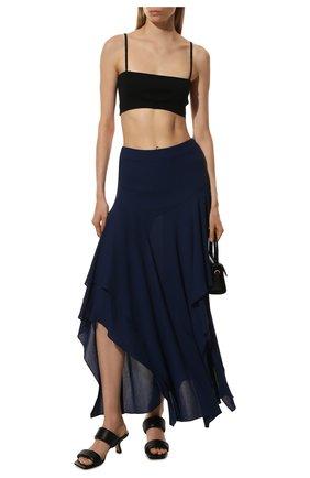 Женская юбка из вискозы STELLA MCCARTNEY синего цвета, арт. 600302/SNA60 | Фото 2