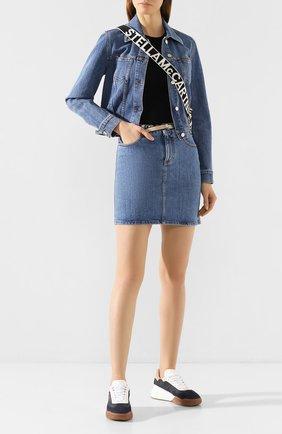 Женская джинсовая юбка STELLA MCCARTNEY синего цвета, арт. 600450/SNH59 | Фото 2