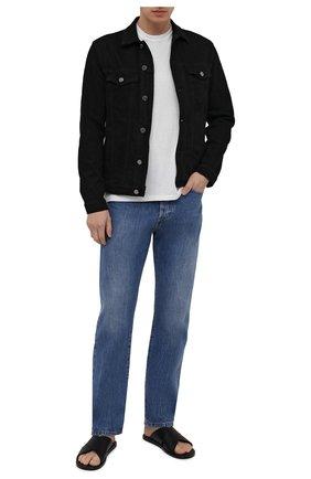 Мужские кожаные шлепанцы BALENCIAGA черного цвета, арт. 597148/WAVY0 | Фото 2