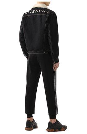 Мужские кожаные кроссовки squalo VERSACE черного цвета, арт. DSU7703/DVTE1G | Фото 2