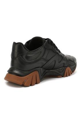 Мужские кожаные кроссовки squalo VERSACE черного цвета, арт. DSU7703/DVTE1G | Фото 4
