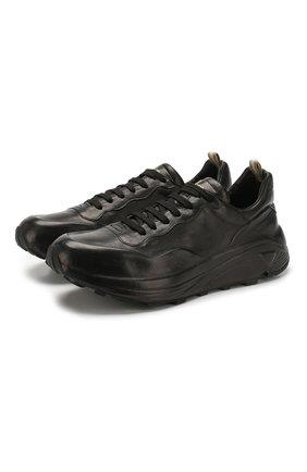 Мужские кожаные кроссовки OFFICINE CREATIVE черного цвета, арт. SPHYKE/001/FRIDA | Фото 1