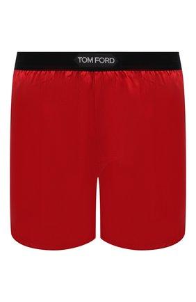 Мужские шелковые боксеры TOM FORD красного цвета, арт. T4LE40010 | Фото 1 (Материал внешний: Шелк; Кросс-КТ: бельё; Мужское Кросс-КТ: Трусы)