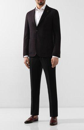 Мужские кожаные лоферы DOUCAL'S бордового цвета, арт. DU1939PANAUF036TC45 | Фото 2