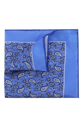 Мужской шелковый платок CANALI синего цвета, арт. 03/HS02761   Фото 1