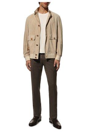Мужские кожаные пенни-лоферы TOD'S темно-коричневого цвета, арт. XXM51B00010D90 | Фото 2