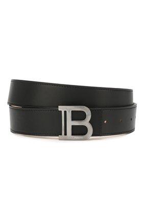 Мужской кожаный ремень BALMAIN черного цвета, арт. TM1A000/LVPZ | Фото 1