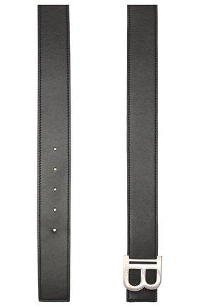Мужской кожаный ремень BALMAIN черного цвета, арт. TM1A000/LVPZ | Фото 2
