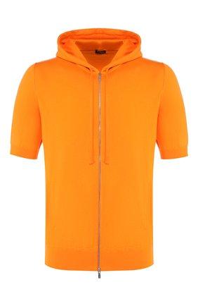 Мужской хлопковый кардиган KITON оранжевого цвета, арт. UK1049M | Фото 1
