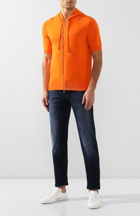Мужской хлопковый кардиган KITON оранжевого цвета, арт. UK1049M | Фото 2