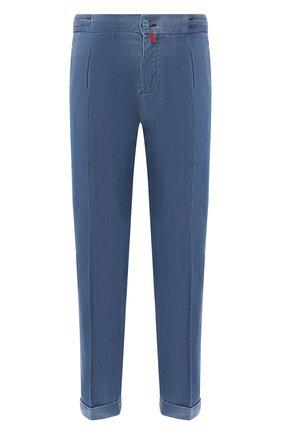 Мужские джинсы KITON голубого цвета, арт. UFP1LAC/J07S26 | Фото 1