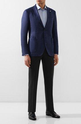 Мужской кожаные дерби BARRETT темно-синего цвета, арт. 141U034.7/C0RSAR0 | Фото 2