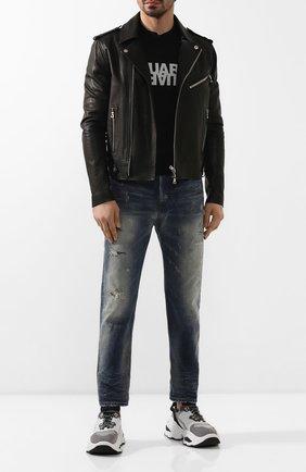 Мужские джинсы DIESEL синего цвета, арт. 00SSQ3/0098S | Фото 2