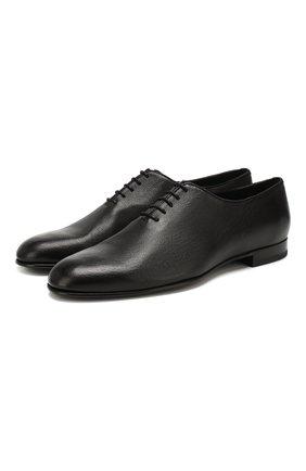 Мужские кожаные оксфорды BRIONI черного цвета, арт. QEDZ0L/P8714 | Фото 1