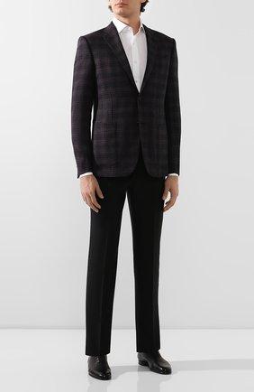 Мужские кожаные оксфорды BRIONI черного цвета, арт. QEDZ0L/P8714 | Фото 2