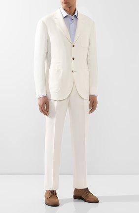 Мужской льняной костюм BRUNELLO CUCINELLI белого цвета, арт. MW431LDN6   Фото 1