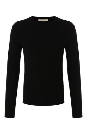 Мужской кашемировый джемпер BOTTEGA VENETA черного цвета, арт. 603600/VKNC0 | Фото 1